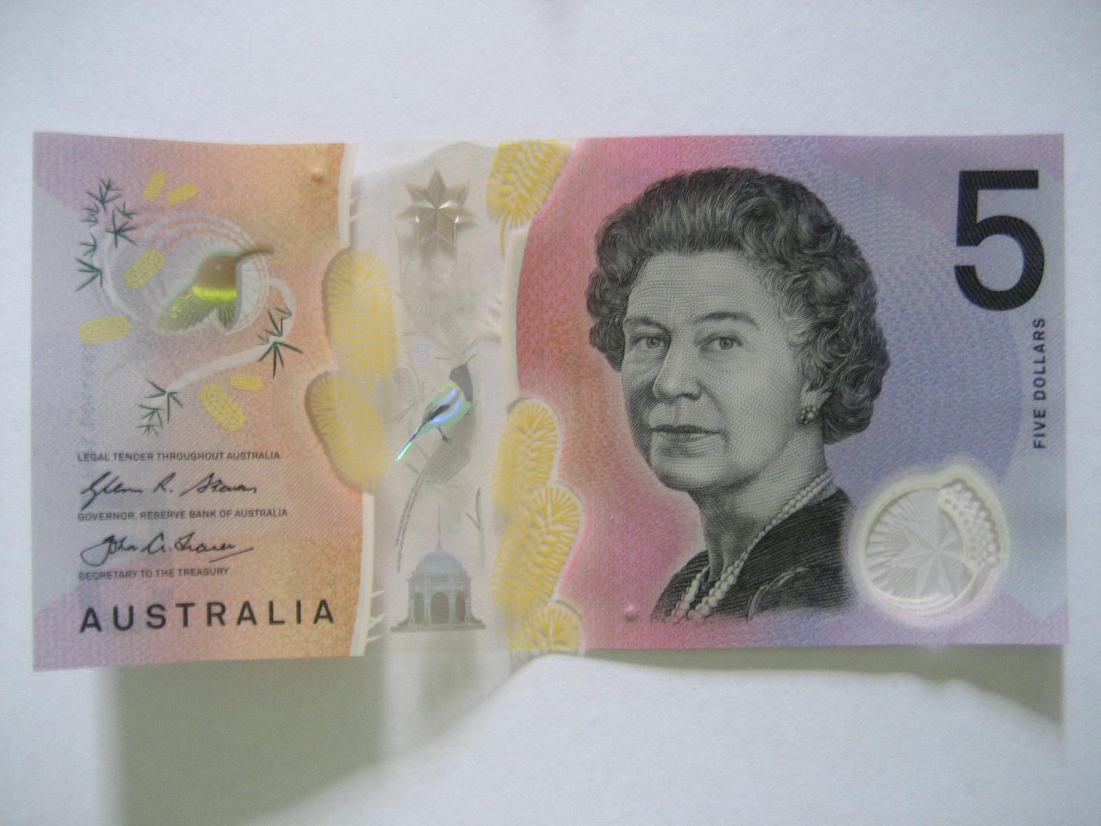 オーストラリアの$5新紙幣