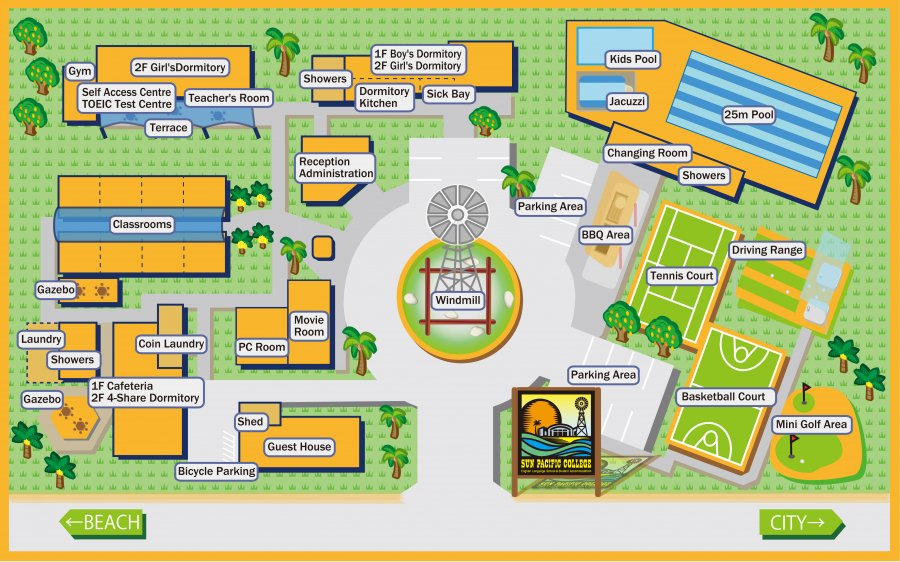 SPC Cairnsキャンパスマップ